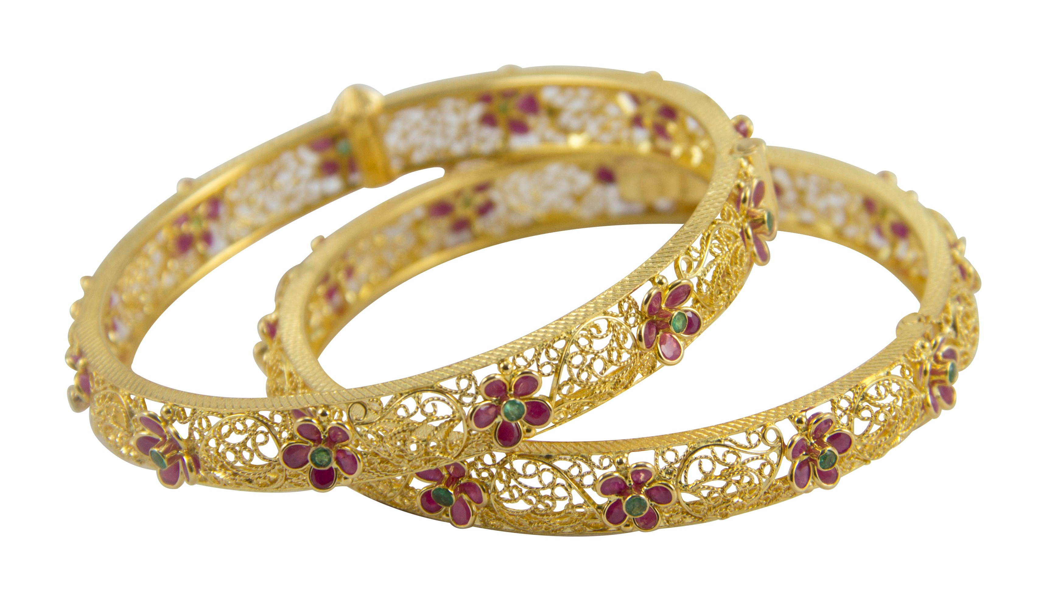 RUBY EMERALD BANGLE